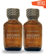 Brown Bottle Leather Solvent Cleaners 30ml-2Pack
