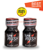 Super Rush Black Leather Solvent Cleaners 10ml-2Pack